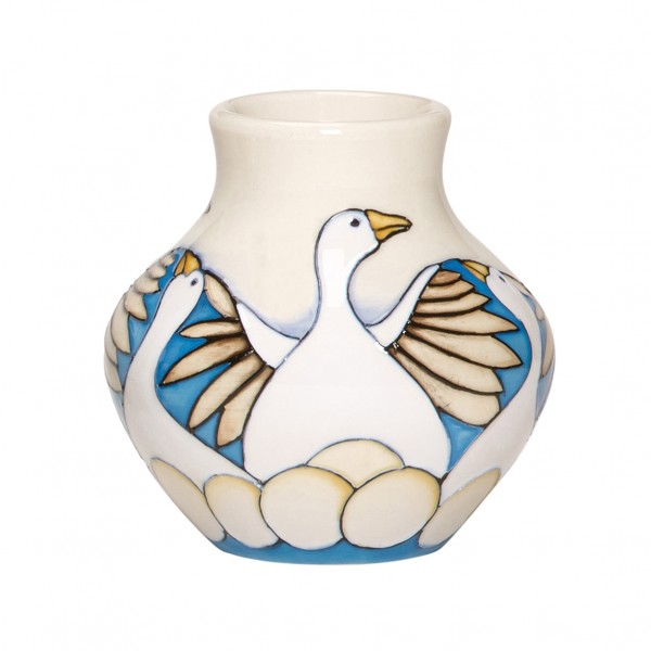 6 Geese Laying - Vase