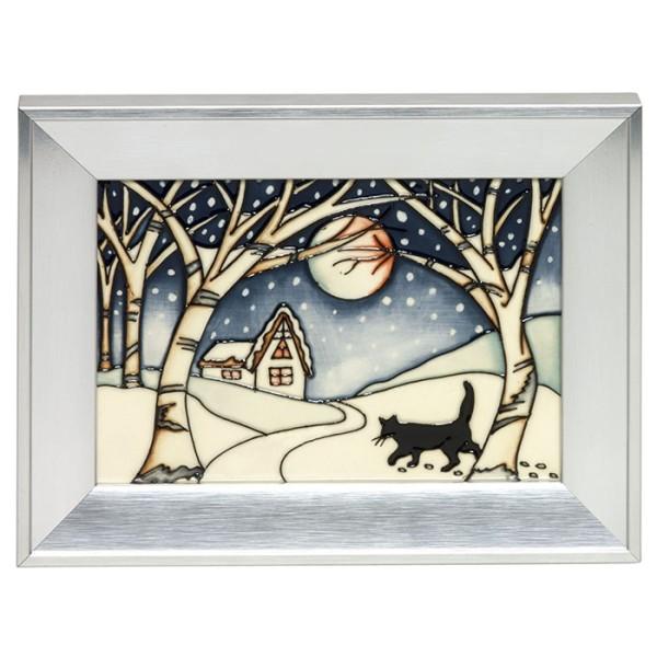 Mr Coal the Christmas Cat - Plaque
