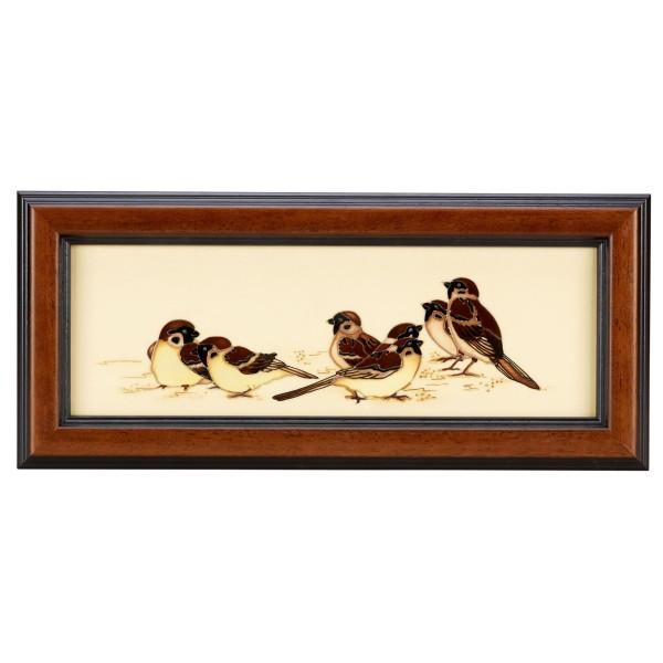 Tree Sparrows - Plaque